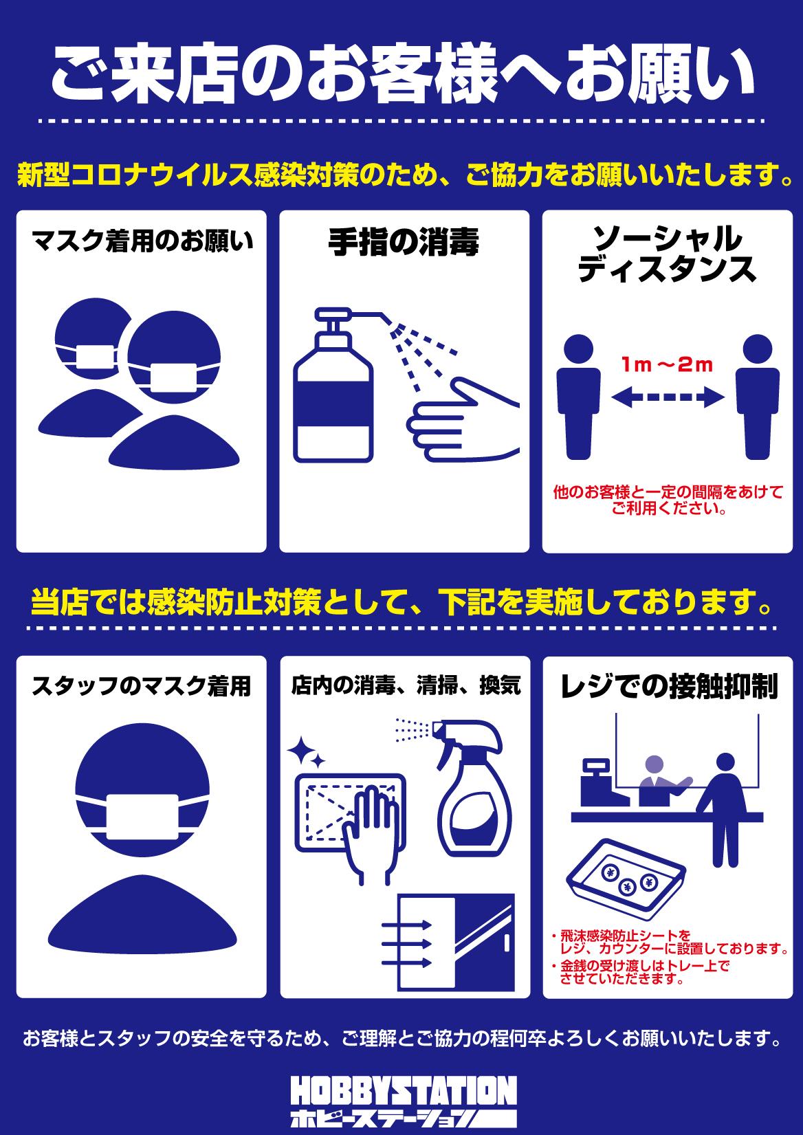 ホビーステーション・コロナウイルス感染対策