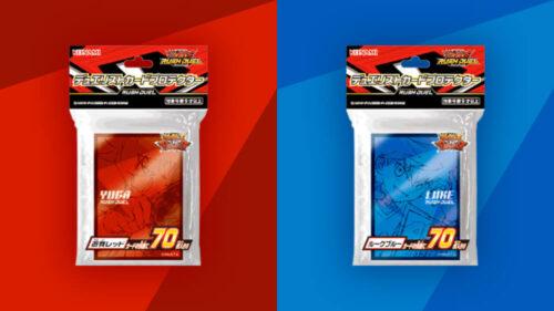 新しいデザインのカードプロテクター「遊我レッド」「ルークブルー」初公開!